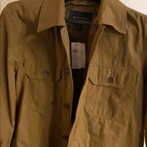 Khaki/tan shirt jacket from BR
